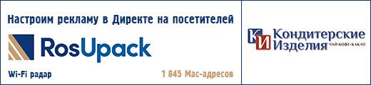 """Рекламная кампания на посетителей выставки  """"RosUpack - 2021"""""""