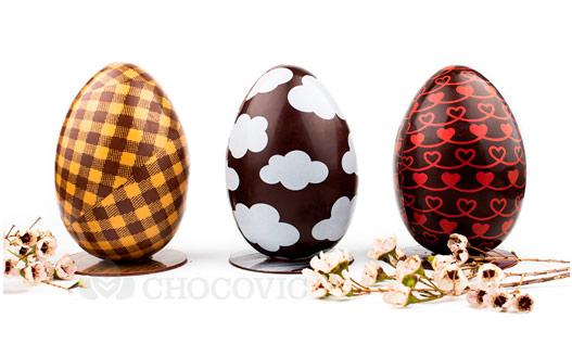 Шоколадное гнездо и шоколадные яйца